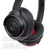 【曜德 送收納袋】鐵三角 ATH-WS660BT 黑紅 SOLID BASS 無線藍芽 耳罩式耳機 麥克風組