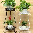 歐式鐵藝多層花架綠蘿吊蘭陽台花架子地面客廳室內落地花盆架 NMS名購居家
