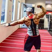 肌肉隊長健身背心彈力寬松無袖速干上衣【轉角1號】