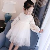 洋裝小女孩連衣裙修身春夏裝跳舞中童古風時尚中長款公主裙 LR426【歐爸生活館】