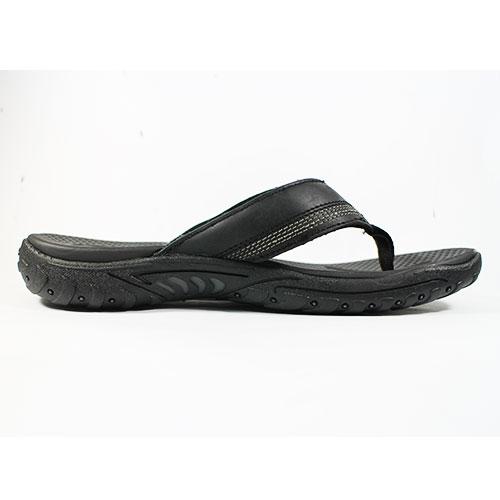(A4) SKECHERS 男款 夾腳拖鞋RELAXED FIT - 65460BLK 黑【陽光樂活】