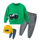 運動風鱷魚小汽車加絨套裝 童裝 長褲 褲子 長袖上衣 睡衣