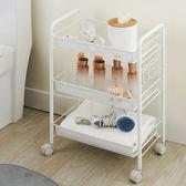 置物架  可移動廚房置物架落地浴室臥室收納架帶輪子小手推車【快速出貨八五折優惠】