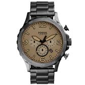 FOSSIL 重裝教士三眼運動計時腕錶-JR1523
