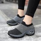 運動鞋春季氣墊韓版套腳鞋女鞋厚底懶人休閒鞋時尚百搭襪子鞋軟底 蘿莉小腳丫