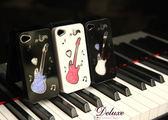 ☆Deluxe☆時尚新潮~熱門電吉他造型水晶iPhone4/4s專用手機殼★五色