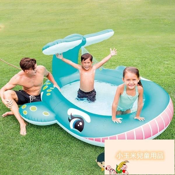 兒童充氣游泳池家庭大號海洋球池沙池家用寶寶噴水戲水池