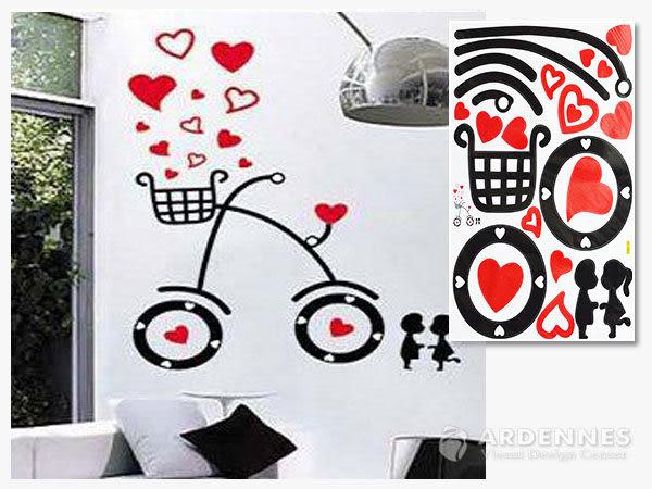 【ARDENNES】創意組合DIY壁貼/牆貼/兒童教室佈置(大) 單車男女
