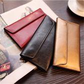 長夾長款錢包女復古簡約超薄卡位錢夾多功能皮夾女士錢包 雙12購物節
