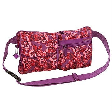 Backbager 背包族【比利時Hedgren】限量 花朵圖騰系列 腰包/貼身腰包/隨身腰包 紫紅色