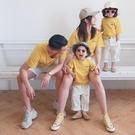 親子裝 海邊親子裝2020新款潮夏季母子母女裝洋氣一家三四口網紅短袖t恤