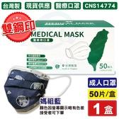 (雙鋼印) 丰荷 醫用口罩 醫療口罩(媽祖藍) 50入/盒 (台灣製造 CNS14774) 專品藥局【2016762】