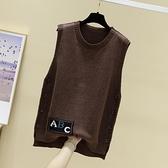 2021年秋季新款針織馬甲女毛衣背心韓版寬鬆馬夾外穿毛衫無袖坎肩 3C數位百貨
