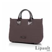 法國時尚Lipault 輕量手提斜背包M(煙燻灰)