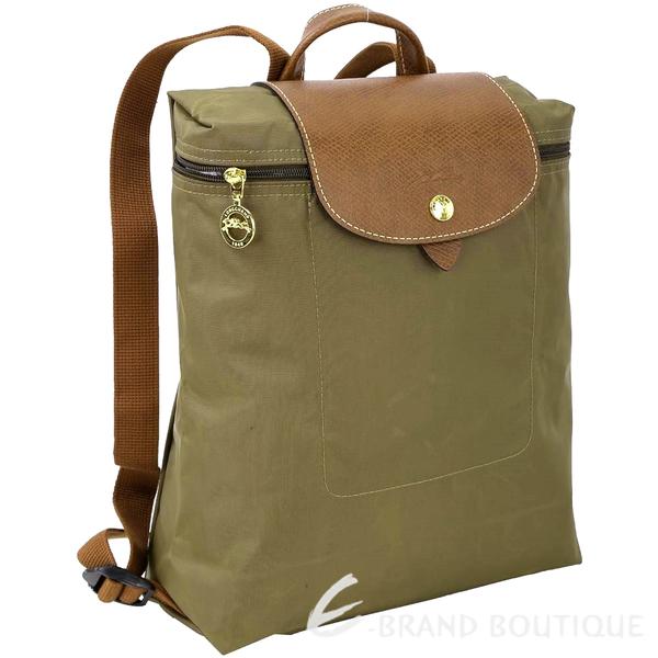 LONGCHAMP Le pliage 尼龍折疊後背包(綠色) 1520248-C9