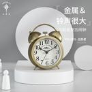 北極星復古金屬鬧鐘超大鈴聲美式靜音兒童專用鬧鈴學生用床頭鐘表 設計師