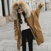 【大真貉毛】大毛領內羊羔毛大衣/長版外套 5色 S-XL碼【P176135-1】