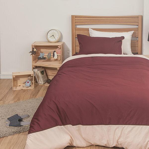 床包 / 雙人【簡單生活系列-多色可選】含兩件枕套  100%精梳棉  戀家小舖台灣製AAA201