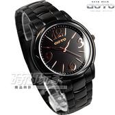 GOTO 簡約時尚腕錶 不銹鋼 IP黑電鍍 黑面 GS6109L-33-341 時間玩家 防水手錶