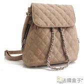 後背包-法國盒子.俏麗經典菱格鍊飾造型後背包(共三色)363#