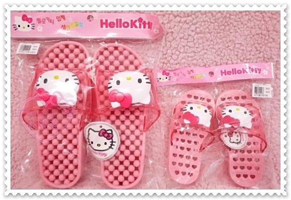 ♥小花花日本精品♥Hello Kitty 大臉健康舒適防水粉色 按摩腳底室內拖/浴室拖/拖鞋 21080005