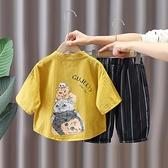 寶寶漢服男童夏裝中國風男孩夏天套裝古裝薄款2021洋氣棉麻唐裝潮 幸福第一站