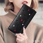 錢包女長款時尚韓版手抓包女士皮夾子大容量多功能手拿包  一米陽光