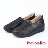 itabella.金蔥布厚底休閒鞋(8592-95黑色)