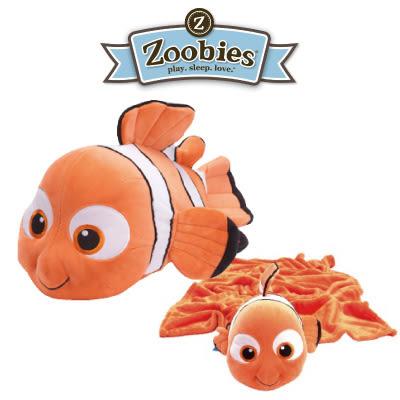 美國 Zoobies 三合一多功能玩偶毯/毯子/毛毯【正版授權】- 尼莫 Nemo (禮盒裝)