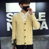 秋冬季新款男士針織開衫男裝韓版針織衫修身毛衣外套潮6302#     東川崎町