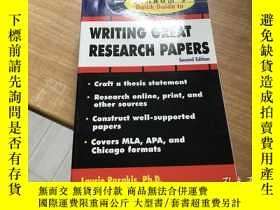 二手書博民逛書店Schaum s罕見Quick Guide To Writing Great Research Papers 第2