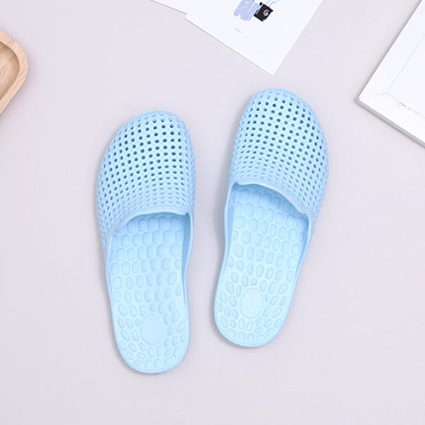 【333家居鞋館】軟Q包頭 愛生活家居拖鞋-水藍