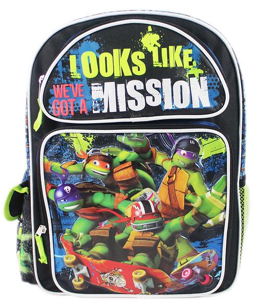 【卡漫城】 忍者龜 後背包 高 41cm 黑 ㊣版 歐美版 Turtles Ninja 書包 兒童 外出包 旅行 造型