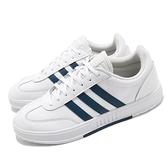adidas 休閒鞋 Gradas 白 藍 愛迪達 皮革 小白鞋 基本款 男鞋 【ACS】 FZ1054