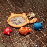 寶寶撈魚戲水玩具兒童益智捏捏叫玩水噴水洗澡玩具小貓釣魚撈網