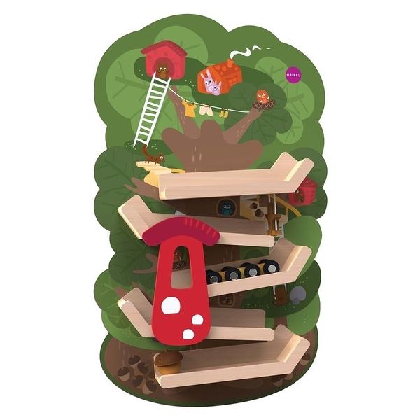 【新加坡Oribel-Vertiplay】創意壁貼玩具-Tree Top Adventure 森林溜滑梯 #OR815