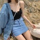 短裙 高腰牛仔包臀半身裙2021春夏新款韓版彈力緊身裙子黑色a字短褲裙