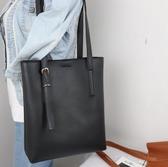 新款側背包女大包托特包女學生韓版軟皮簡約百搭潮 黛尼時尚精品