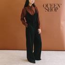 Queen Shop【04050609】排釦細肩綁帶連身褲 兩色售*現+預*