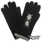 PolarStar 男 菱格觸控保暖手套『黑』台灣製造│保暖手套│絨毛手套│觸控手套│刷毛手套 P19603