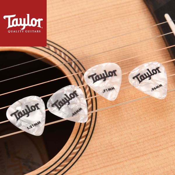 小叮噹的店- Taylor (8072-4片/組) White Pearl 351 吉他彈片 ABALONE