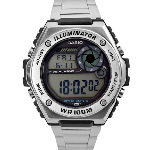 CASIO手錶 螺絲金屬質感不鏽鋼錶NECE30
