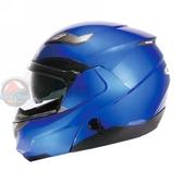 [安信騎士] 瑞獅 ZEUS 3100 素色 消光系閃銀藍 安全帽 可樂帽 可掀式 內置遮陽片