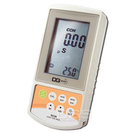 《DGWater》掌上型電導度/TDS/鹽度/比阻計 DC20 EC/TDS/Salinity/Resistance Meter