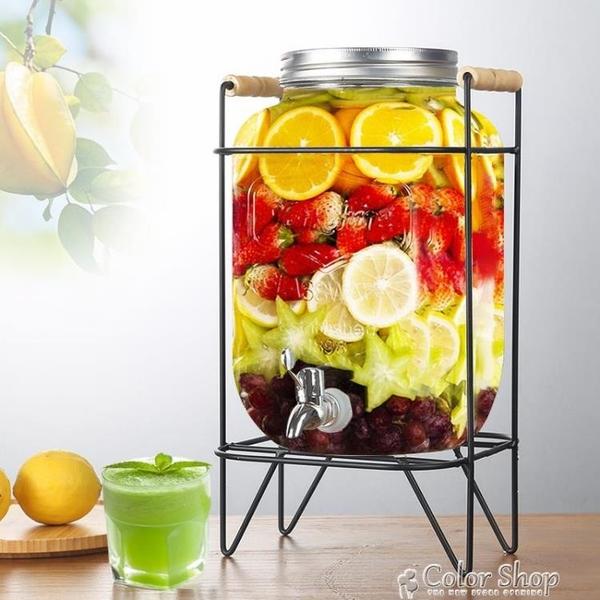 飲料桶釀酒泡酒玻璃瓶帶龍頭家用玻璃密封罐發酵桶飲料水果酵素瓶 交換禮物 YYP