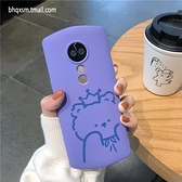 紫色小熊美圖手機殼個性卡通創意保護套【輕派工作室】