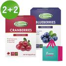 Frenature富紐翠-翠鮮果凍乾 4盒組(蔓越莓+藍莓) (附提袋)