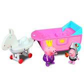 【英國 Peppa Pig 佩佩豬】粉紅豬小妹 皇家系列 可愛馬車組 PE05868