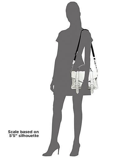 [展示品出清] PROENZA SCHOULER PS1 小型 尼龍款 托特 手提斜背兩用包 白色 多處泛黃 售出不退