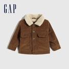 Gap嬰兒 復古風仿羊羔絨翻領外套夾克 595626-棕色